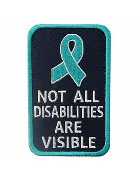 Not All Disabilities Are Visible Vests/Harnesses Service Dog Emblem Embroidered Fastener Hook & Loop Patch by Emb Tao