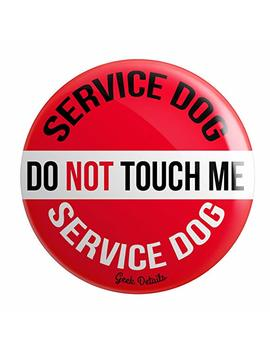 geek-details-service-dog-themed-pinback-button by geek-details
