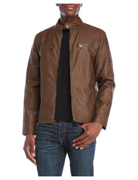 Faux Leather Racer Jacket by Levi's