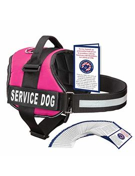 Industrial Puppy Service Dog Harness With Hook And Loop Straps And Handle | Available In 7 Sizes From Xxs To Xxl | Vest Features Reflective Patch And Comfortable Mesh Design by Industrial Puppy
