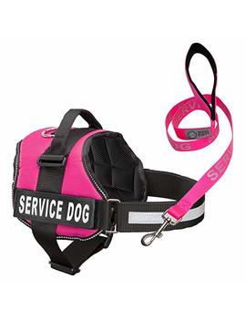 Service Dog Harness & Matching Leash Set | Available In 7 Sizes From Extra Small To Extra Large | Vest Features Reflective Patch And Comfortable Mesh Design From Industrial Puppy by Industrial Puppy