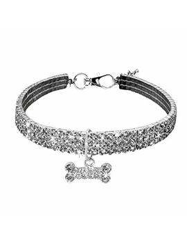 Clearance! Wensltd Cute Mini Pet Dog Puppy Bling Rhinestone Chocker Collars Fancy Dog Necklace by Wens Ltd Pet Collar