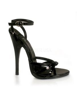 Black Patent Strappy Sandal High Heels by Ami Clubwear