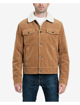 Men's Kayne Corduroy Sherpa Trucker Jacket With Fleece Lining by Lucky Brand