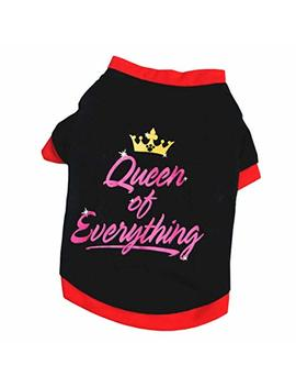 Pet Shirt, Ooeoo Cute Apparel Soft Sweatshirt Puppy Queen Of Everything Vest Small Dog Cat Clothes by Ooeoo Pet Clothes