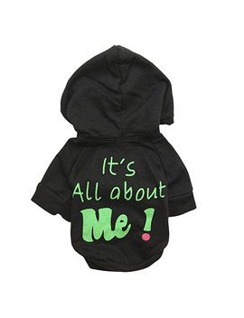 Howstar Pet Clothes, Warm Hoodie Coat Cute Dog Clothing It's All About Me Printed Shirt Doggie Costume by Howstar