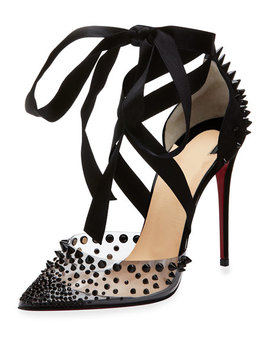 Mechante Reine Spikes Red Sole Pumps by Christian Louboutin