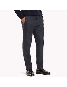 Virgin Wool Check Trouser by Tommy Hilfiger