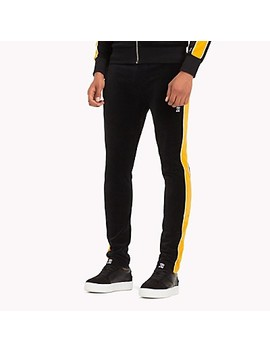 Lewis Hamilton Striped Velvet Tracksuit Bottoms by Tommy Hilfiger