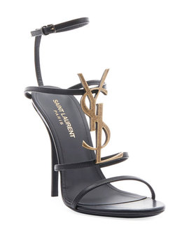 Cassandra High Logo Sandal by Saint Laurent
