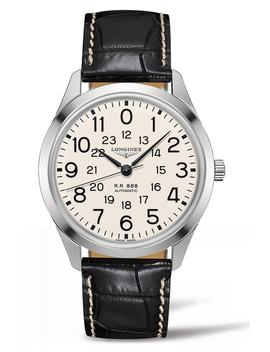 Rail Road Automatic Leather Strap Watch, 40mm by Longines