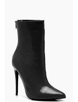 Contrast Fabric Pointed Shoe Boots by Boohoo