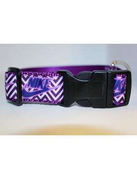 Nike Chevron Purple Dog Collar/ Nike Collar/ Exercise Collar/ 1inch  Adjustable Dog Collar by Etsy