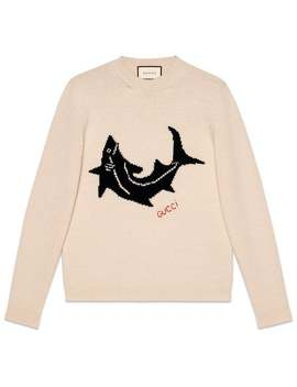 Wool Sweater With Shark by Gucci