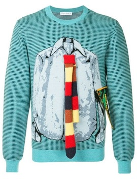 Trompe L'oeil Shirt And Tie Sweater by Jw Anderson