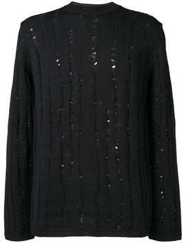 Ribbed Knit Distressed Jumper by Comme Des Garçons Homme Plus