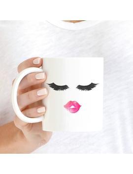Lips And Lashes Mug, Eyelashes Mug, Lashes Mug, Cute Mugs, Makeup Mug, Bridesmaid Gift, Mug Gift, Lash Mug, Gift For Her, Coffee Mug Gift by Etsy