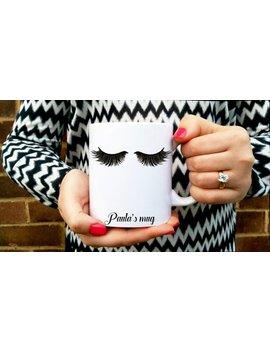 Eyelashes Mug. Mascara Mug. Eye Lashes Cup. Personalised Coffee Mug. Fashionista Mug, Mascara And Coffee. Lashes Extensions, Make Up Beauty by Etsy
