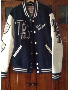 Captain's True Religion Richie Men's Basketball Varsity Letterman Jacket Sz M by True Religion