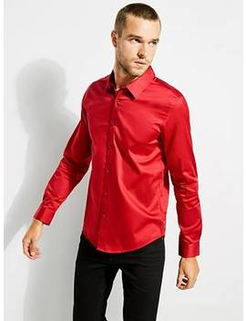 Luxe Stretch Long Sleeve Shirt by Guess