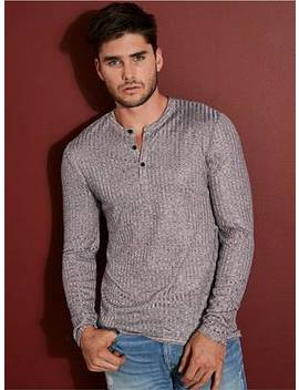 Warehouse Long Sleeve Henley by Guess