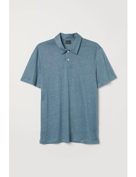 Linen Blend Polo Shirt by H&M