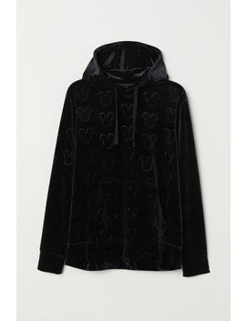 Hooded Velour Top by H&M