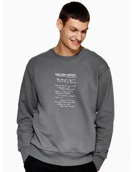 Black 2 Pac Sweatshirt by Topman
