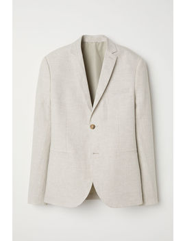 Linen Jacket Slim Fit by H&M