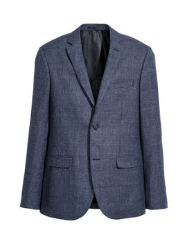 Wool Blend Jacket Slim Fit by H&M