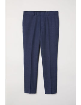 Wool Blend Trousers Slim Fit by H&M
