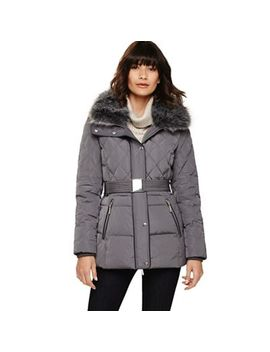 Phase Eight   Slate Blue Deasia Short Diamond Puffer Coat by Phase Eight