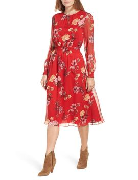 Garden Fleur Chiffon Blouson Dress (Regular & Petite) by Vince Camuto
