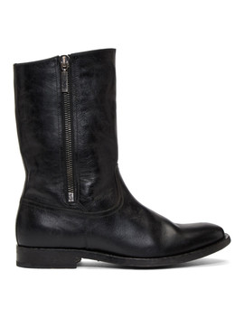 Black Shearling Matt Boots by Saint Laurent