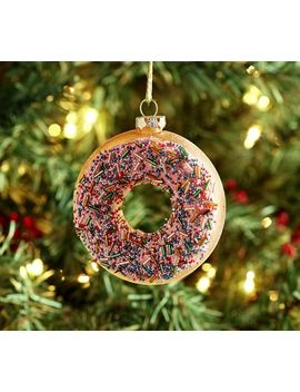 Glass Donut Beaded Sprinkles Ornament by Pottery Barn