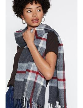 Brushed Large Scale Check Scarf by Nasty Gal