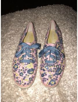 Womens Keds Size 8 Champion Floral Print Ribbon Lace Up Canvas Sneakers Lavender by Keds