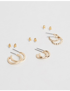 Hammered Hoop Earrings by Topshop
