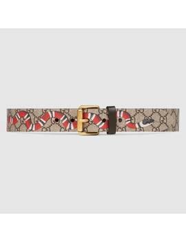 Cintura In Tessuto Gg Supreme Con Kingsnake by Gucci