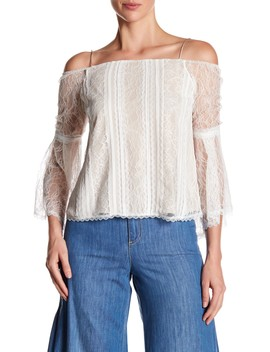 Shera Cold Shoulder Trumpet Sleeve Top by Alice + Olivia