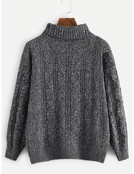 High Neck Jumper by Romwe