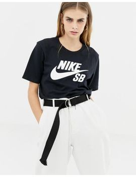Nike Sb Logo T Shirt In Black by Nike