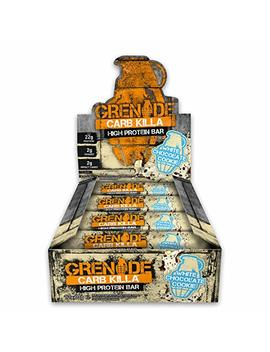 Grenade Carb Killa High Protein And Low Carb Bar, 12 X 60 G   White Chocolate Cookie by Grenade
