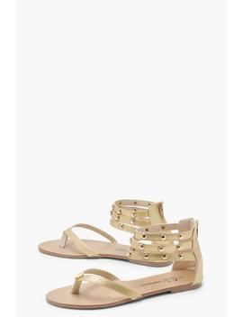 Multi Strap Studded Sandals by Boohoo