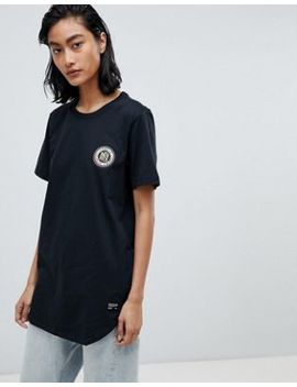 Nike F.C. Flag Crest T Shirt With Back Print In Black by Nike