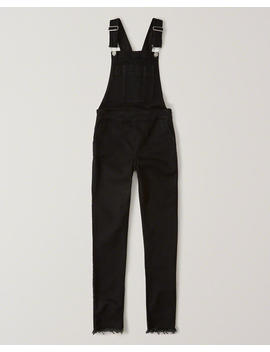 Black Denim Slim Overalls by Abercrombie & Fitch