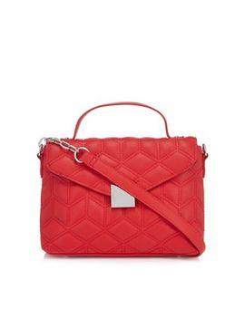 Faith   Red Quilted Cross Body Bag by Faith
