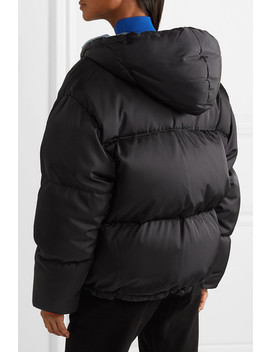 Hooded Quilted Shell Down Jacket by Prada