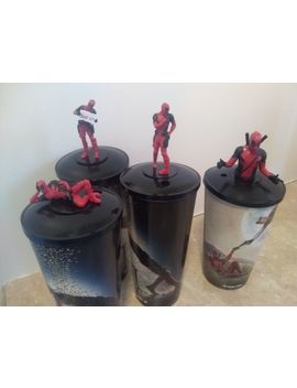 Deadpool 2 Movie Theater Exclusive Cups With Toppers   Master Set Of 4 by Ebay Seller