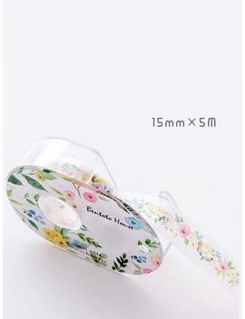 Flower Painting Dispenser Masking Tape by Romwe